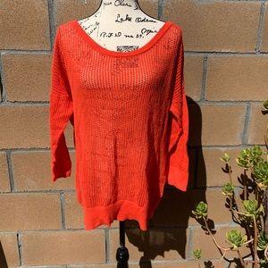 3/$20 torrid | open knit red top 1X
